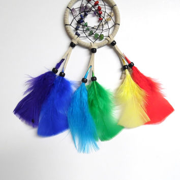 White Chakra Car Dream Catcher
