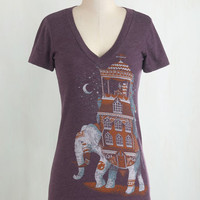 Travel Mid-length Short Sleeves Trunk Show Treasure Tee