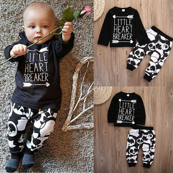 Infant Baby Newborn Boy Clothes Set Little Girl T-shirt Tops Legging Pants Cute Animals Cartoon Cotton 2pcs Clothing Outfit Set