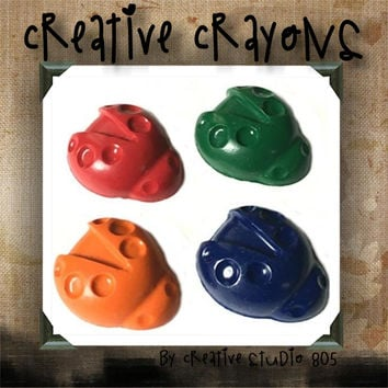 LADYBUGS - shaped crayons - birthday party favors - baby shower favors - christmas stocking stuffers