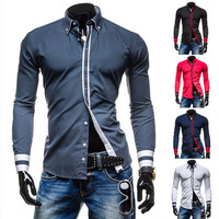 Slim Fit New Design Men's Fashion Dress Shirt