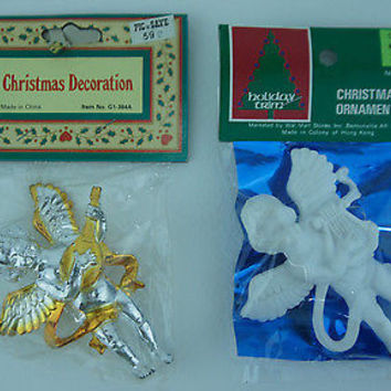 Pik n Save Angel Christmas Ornaments Hard Plastic Figurines