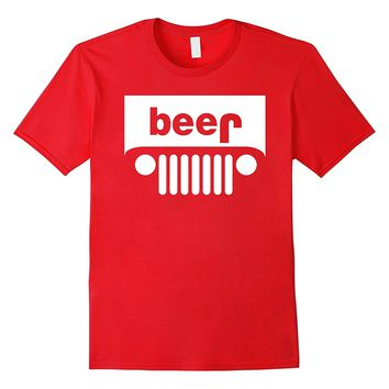 Adult Beer Jeep Funny Drinking T-Shirt - PREMIUM QUALITY