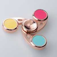 VIP EDC Tri-Spinner Fidget Hand Spinner Copper Professional Finger Gyro For Autism ADHD Gift Toys