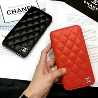 Chanel leather iPhone Phone Cover Case For iphone 6 6s 6plus 6s-plus 7 7plus H-AGG-CZDL