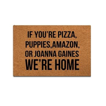 Doormat Entrance Mat Funny Doormat Home Office Decorative Door Mat Indoor/Outdoor Rubber - If You're Pizza,Puppies,Amazon