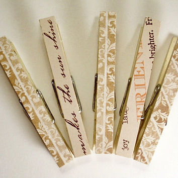 Set of 12 Decorative Clothespins Ready to by JMcnallyDesigns
