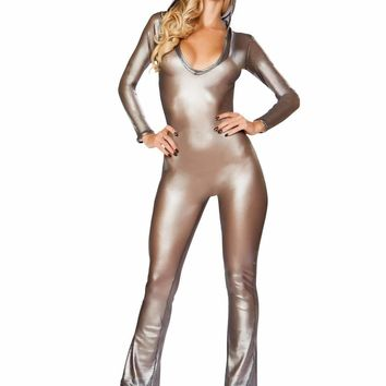 Roma Rave 3300 - Hooded Fishnet Catsuit