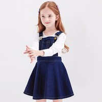 2017 Big Girls Dresses Spring Summer Cute Fashion Overalls Kids Boutique Dress for Age 45678910 11 12 13 14 Years Old