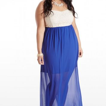 Plus Size Once Upon A Lace Maxi Dress   Fashion To Figure