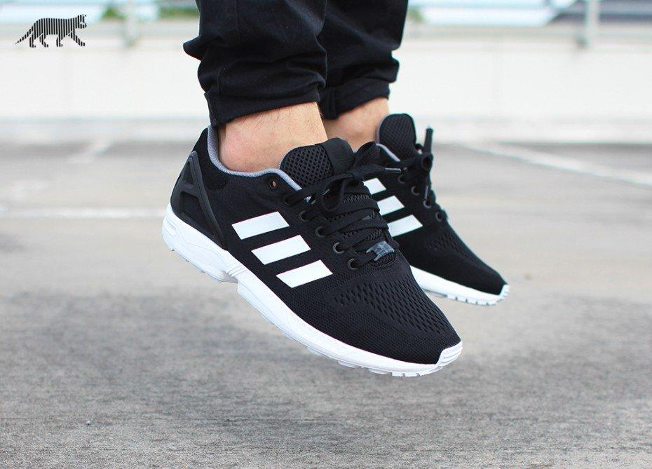 brand new 13ad8 71340 ADIDAS ZX FLUX (CORE BLACK   FTWR WHITE   from asphaltgold.de