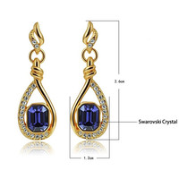 Noble Amethyst Diamond Crystal Earrings