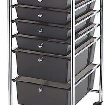 Kitchen Utility Storage Cart 6 Drawers From