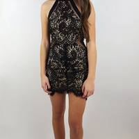 Lace Peek-a-Boo Dress | ZOE Boutique