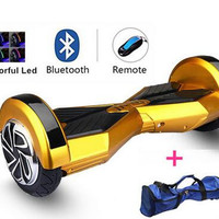 2 Wheel Self Balance Electric Scooters 8 inch Hoverboard with Bluetooth uland  Lights and Key Air Sky Walker Board Hooverboard