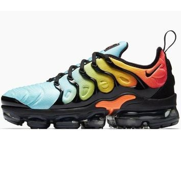 Nike Air Vapormax Plus Triple White Running Sneakers Sport Shoes Mint green  + Orange black 5ec581f10