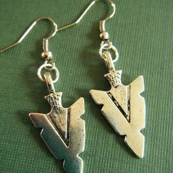 Hot Vintage Silvers Medieval Arrowheads 3D Charms Earrings Drop/Dangle Earrings For Women Jewelry Gifts Accessories P820