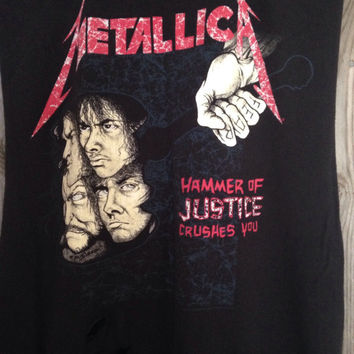 Metallica And Justice For All cut and distressed tank top size Large