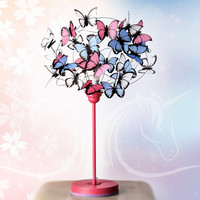 "Table lamp with butterflies ""Fairies & Unicorns"""