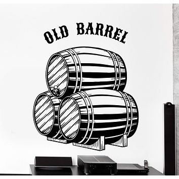 Wall Vinyl Decal Whisky Old Barrel Quotes Alcohol Home Interior Decor Unique Gift z4098