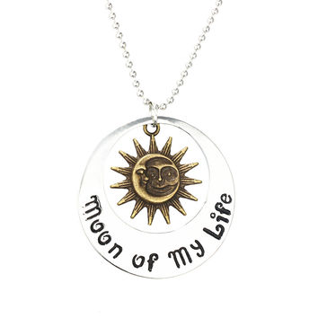 Sunhine Movie film Jewelry THE Game Of Thrones Moon Of My Life My Sun And Stars Chain Necklace  Song Of Ice And Fire Necklace