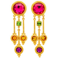 Gold-Plated Crystal Earrings | Moda Operandi