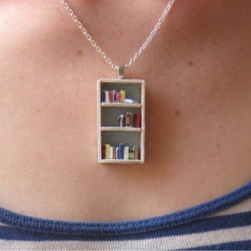 [sold out] The Beach House Bookshelf Necklace by by Coryographies on Etsy