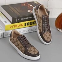 Gucci:Trending Fashion Casual Sports Shoes Coffee G-ALS-XZ