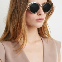 Metallic Cat Eye Sunglasses