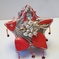 Upcycled Jeweled Star Trinket Box