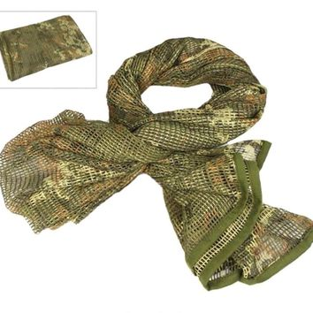 VILEAD Military Camouflage Tactical Mesh Breathbale Scarf Sniper Face Veil Scarves For Camo Airsoft Hunting Cycling Neckerchief