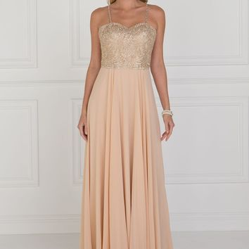 Simple long prom dress  GLS 1571