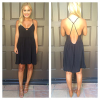 Annabelle Daisy Chain Dress - BLACK