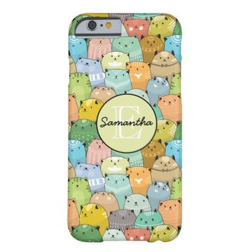 Personilized Super Cute Cat Barely There iPhone 6 Case