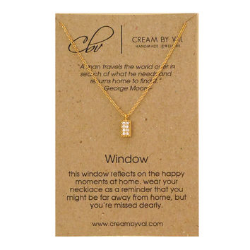 Gold Window Necklace