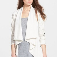 Women's BLANKNYC 'Private Practice' Mixed Media Drape Front Jacket