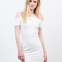 Cold Shoulder Criss Cross Dress
