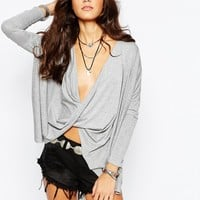 Rokoko Wrap Front Top at asos.com
