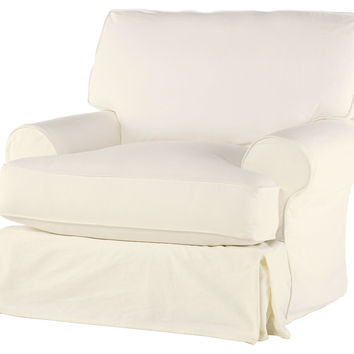 Comfy Swivel Chair, Antique White, Club Chairs