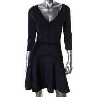 Diane Von Furstenberg Womens Rhonda Pattern 3/4 Sleeves Casual Dress