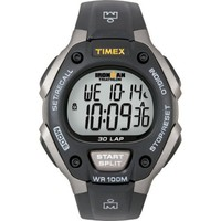 Timex Men's T5E901 Ironman Watch with Black Resin Band
