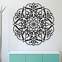 Mandala Wall Decals India Namaste Vinyl Decal Bedroom Yoga Studio Wall Decor Bohemian Bedding Boho Decoration Home Sticker SM3