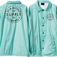 Diamond Stamped Coaches Jacket XXL Diamond Blue/White