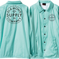 Diamond Stamped Coaches Jacket Small Diamond Blue/White