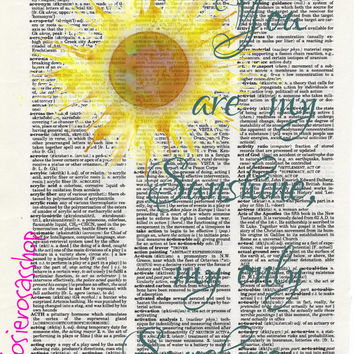 You Are My Sunshine Lyrics Vintage Dictionary Fan Wall Art Page Poster Room Decoration Typography Watercolor