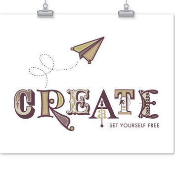 Create Set Yourself Free Inspirational Print by sweetharvey