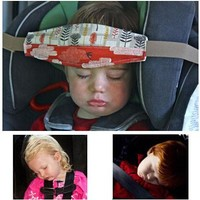 "1.5m 59"" Baby Car Seat Headrest Sleeping Head Support Pad cover For Kids travel interior accessories"