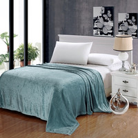 Popular Home Pinstripe Collection Aqua Full Size Ultra Plush Blanket