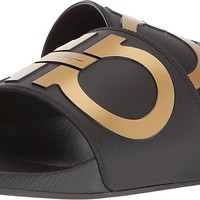 Salvatore Ferragamo Men's Groove 2 Slides