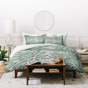 Gabi Mint Duvet Cover